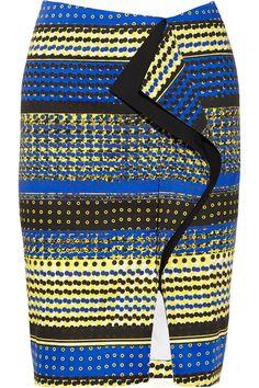 Prabal Gurung ruffled skirt #ItsAllAboutAfricanFashion #AfricanPrints #kente