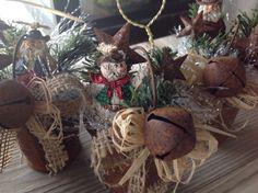 Rustic Milk Pail Holiday Ornaments with Cowboy Santas or Cowboy Snowmen Texas Stars and Jingle Bells on Etsy, $9.95