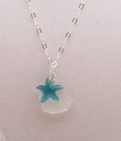 $30.00 Cute starfish and seaglass necklace