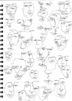 Blind Contour Continuos Line Blind Drawings Blind Contour Drawing, Contour Drawings, Art Drawings, Drawing Faces, Face Line Drawing, Continuous Line Drawing, Illustration Art, Art Illustrations, Art Graphique