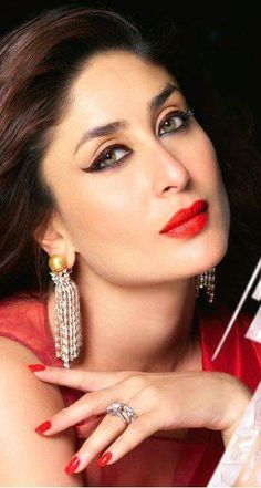 "Here is Kareena Kapoor Khan's new print ad for a cosmetics brand. Kareena looks gorgeous in the ad which goes by the tag line, ""Bebo Goes Glossy"". Indian Celebrities, Bollywood Celebrities, Beautiful Celebrities, Beautiful Actresses, Bollywood Actress, Pakistani Actress, Stunning Women, Kareena Kapoor Khan, Deepika Padukone"