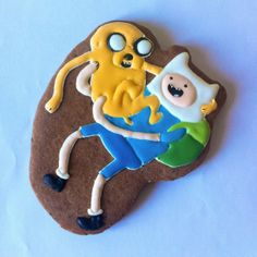 #Advanturetime #cookie #icingdecorating #geekcookie #finn&jake