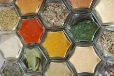 CUSTOM HEX 24: Magnetic Spice Rack for Your Fridge. Includes 24 EMPTY Jars Hand-Stamped with Customized Spice Names from Your Pantry.: Amazon.com: Kitchen & Dining