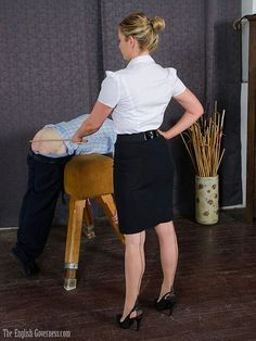 Seamed stockings are worn on discipline day, this will mean a caning,minimum 6 of the best.