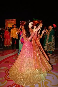sparkly pink and gold anarkali Chandigarh weddings | Uday & Shireen wedding story | Wed Me Good