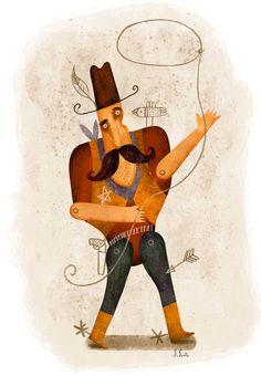 Vaquero. Ilustración. Sergio Gontz