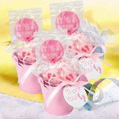 Tin Pail Favor Kit in Light Pink with adorable favors for a girl baby shower