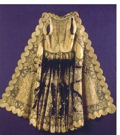 Γιαννιώτικο χρυσοκέντητο πιρπιρί Gold Work, Folk Art, Elsa, Weaving, Embroidery, Greece, Silver, Handmade, Costumes