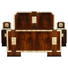 Quality Walnut 1930s Carved Standard Double Bed Arts And Crafts Pretty And Colorful Beds Antiques