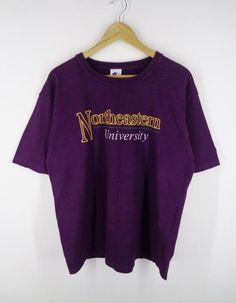 15d47cd0552 Champion Shirt Vintage Champion Northeastern University T 90s Champion  Northeastern University Vinta