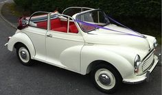 car - oh yes, that's our kind of convertible! Wedding Prep, Summer Wedding, Our Wedding, Wedding Cars, Wedding Ideas, Wedding Planner, Morris Minor, Cute Cars, Wedding Programs