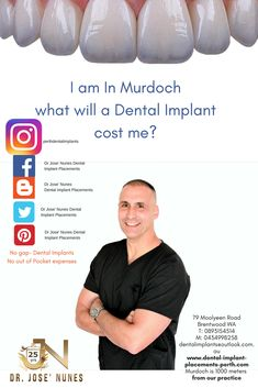 The Best Dental Implant Clinic in Perth. Dental surgery is his passion and he has spent many years mastering dental implant placements. Tooth Decay In Children, Affordable Dental Implants, Dental Doctor, Teeth Whitening That Works, Dentist Near Me, Teeth Implants, Dental Bridge, Dental Surgery, Dental Services