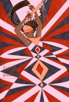Oia by Eliane Bettochi Orisha, Black Women Art, Black Art, Yoruba Religion, Contemporary African Art, Africa Art, Sacred Feminine, Witch Art, Sacred Art