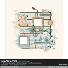 Layer Works No. 945- Studio Double-D Templates- LT484853- DesignerDigitals