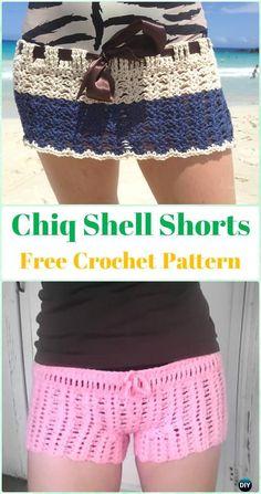 Crochet Chiq Shell Shorts Free Pattern - Crochet Summer Shorts & Pants Free Patterns