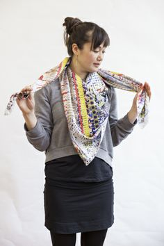 It's A Wrap! 3 Brilliant Ways To Style Your Scarf This Season #refinery29  http://www.refinery29.com/57784#slide8  Pull the top ends until the V moves up towards the neck.