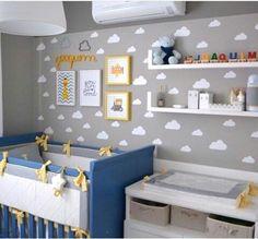 Nursery blue gray. Quarto bebê azul e cinza
