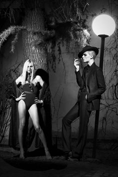Totally gorgeous. Andrej Pejic plays dual roles.   Candy Magazine | PHOTOS | Styleite