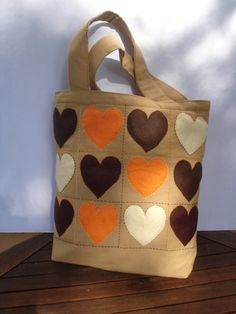 Fashionable canvas tote bag Eco friendly handmade by Apopsis,