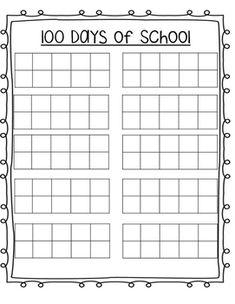 100 Days of School Ten-Frame