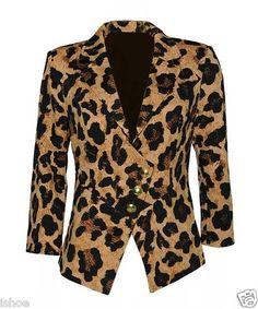Iron Fist Streetwalking Rock Chic Leopard Animal Blazer Jacket Coat Sizes 8 14 | eBay