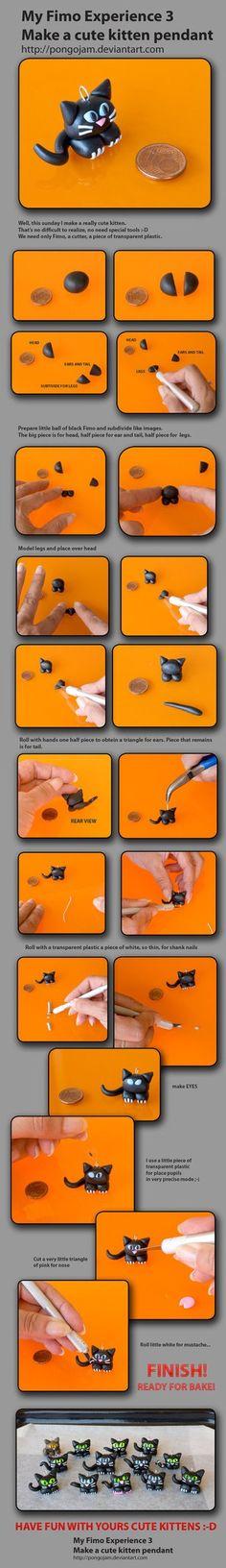 tutorial gatito negro