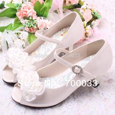 SoKoll Brand!Eco-friendly Ivory Pearls and Flowers Kids Girl Fashion Sandals For Wedding Free Shipping