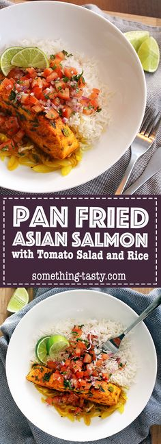 Pan Fried Asian Salmon – An easy and delicious family friendly meal that can be made in under 30 min Easy Family Meals, Kids Meals, Easy Meals, Asian Salmon, Pan Fried Salmon, Easy Asian Recipes, Kid Friendly Meals, Salmon Recipes, Fries