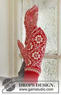 Free knitting patterns and crochet patterns by DROPS Design - handschuhe sitricken Knitting Charts, Knitting Patterns Free, Free Knitting, Crochet Patterns, Free Pattern, Mittens Pattern, Knit Mittens, Knitting Socks, Drops Design