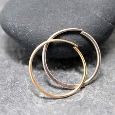 Sterling 14K DUO 7MM Nose Rings Tragus Cartilage by RoyalCountess