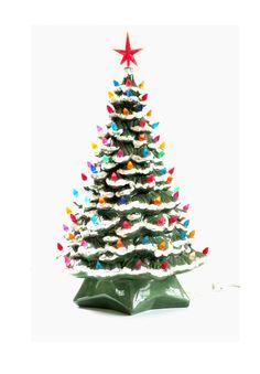 Momma & Grandma had a few of these Vintage Ceramic Christmas Tree
