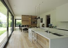 Timber in island waterfall edge Gallery | Australian Interior Design Awards