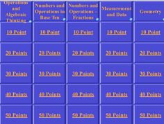 FREE 3rd Grade Math Common Core Jeopardy!!
