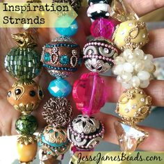 JJB's Deliciously Decadent Inspiration Strands. Beautifully coordinated beads to Inspire your creative flow!