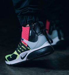hot sale online c3c1e 7e33b Acronym x Nike Air Presto Mid Neon Sneakers via HYPEBEAST More Fashion here.