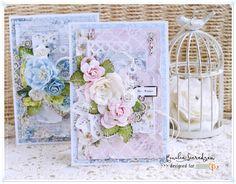 Scrap Art by Lady E: Birthday Cards with Alice's Dreams / Urodzinowe Kartki z Marzeniami Alicji, Card with flowers