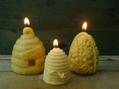 Candles in the shape of skeps.