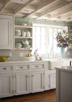 Impressive Ivory Rustic Kitchen