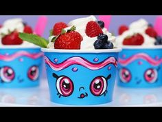 SHOPKINS YO CHI WHITE CHOCOLATE MOUSSE   NERDY NUMMIES   YouTube | Ro  Pansino |