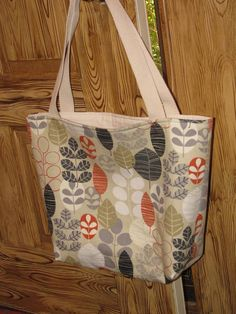 Home dec tote bag by SewLeighMyOwn, $30.00