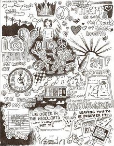 All Time Low lyrics doodles