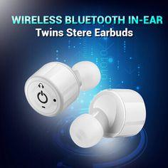 True Wireless Stereo Bluetooth Headphones Earphones Noise Canceling White True Wireless Stereo Bluetooth Headphones Earphones Noise Canceling White ($19.59) BY FREE SHIPPING! #Earphones