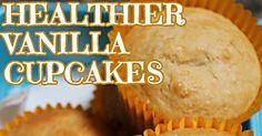 This healthier vanilla cupcake recipe makes a fabulous lunch box treat.