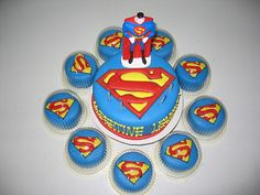 superman-themed-cupcakes  http://cakesandcupcakesmumbai.com/2012/11/12/superman-cupcakes-themed-birthday-design-mumbai/#
