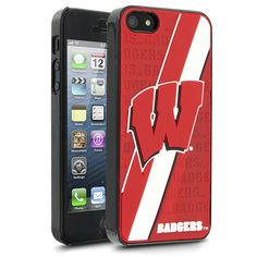 NCAA Wisconsin Hard Case with Logo for Apple iPhone 5