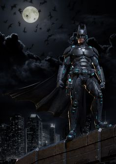 """Awesome """"Batman"""" entry for Comicon Challenge 2014 by Sarakawa, with a newer sci-fi suit: http://zbru.sh/qx #ZBrush"""