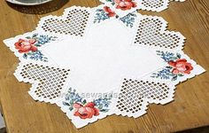 Buy Flowers Hardanger Tablecloth Embroidery Kit Online at www.sewandso.co.uk
