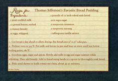 Duncan Farmstead: Sharing a Christmas Recipe from Thomas Jefferson