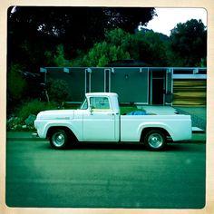 Vintage ford truck + mid century Eichler