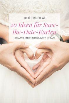 """Wer eine Hochzeit plant, startet oft mit den """"Save-the-Date""""-Karten. Wir zeigen 20 schöne Ideen für das Save-the-Date. Save The Date Karten, Thanks Card, Place Cards, Creative Ideas, Invitations, Nice Asses"""